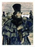Portrait of Alexander Pushkin Giclee Print by B. M. Kustodiev
