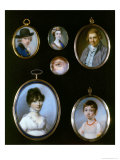 Portrait Miniatures, Sir Terney, Unknown Woman, William Alton, an Eye, Unknown Woman Giclee Print by George Englehardt