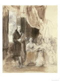 Sir Robert Peel Reading to Queen Victoria Giclee Print by Sir David Wilkie