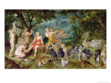 Diana and Her Nymphs Preparing to Leave For the Hunt Giclee Print by Jan Brueghel the Elder
