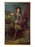 Portrait of Louis Auguste de Bourbon Giclee Print by Francois de Troy