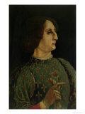 Portrait of Galeazzo Mario Sforza Giclee Print by Piero Del Pollaiolo