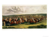 The Start of the Memorable Derby of 1844, Engraved by Charles Hunt Giclee Print by John Frederick Herring I