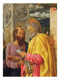 St. Peter and St. Paul, Detail from the Left Panel of the St. Zeno of Verona Altarpiece, 1456-60 Giclee Print by Andrea Mantegna