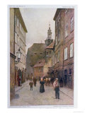 Maiselova Ulice, Prague, Illustration from 'stara Praha Giclee Print by Vaclav Jansa