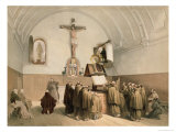 The Bell Ringers at the Oratory of the Capucines, Bruges Giclee Print by Louis Haghe