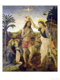 The Baptism of Christ by John the Baptist, c.1475 Gicle-tryk af Andrea Verrocchio