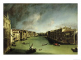 The Grand Canal, View of the Palazzo Balbi Towards the Rialto Bridge, 1724 Giclee Print by  Canaletto