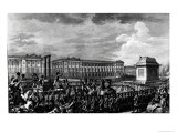 The Day of 21st January 1793: The Death of Louis XVI Giclee Print by Charles Monnet
