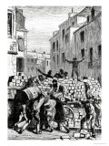 The Barricade, Illustration from Les Miserables by Victor Hugo Giclee Print by Gustave Brion