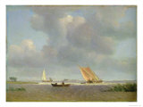 Fresh Breeze on the Elbe, c.1830 Reproduction proc&#233;d&#233; gicl&#233;e par Adolf Vollmer