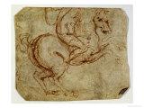 Horse and Cavalier Giclee Print by  Leonardo da Vinci