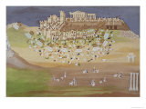 First Battle of Athens in 1826, from the Pictorial History of the Greek War of Independence Giclee Print