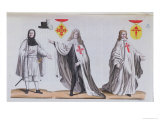 Knights of Calatrava in War and Ceremonail Costume, c.1820 Giclee Print by Vittorio Raineri