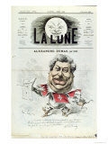 Caricature of Alexandre Dumas Pere Giclee Print by André Gill