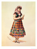 Hortense Schneider in Offenbach&#39;s Operetta La Perichole Giclee Print by Antony Paul Emile Morlon
