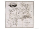 Map of the County of Middlesex, Published 1819 Giclee Print by C. Greenwood