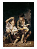 Two Children Eating a Melon and Grapes, 1645-46 Giclee Print by Bartolome Esteban Murillo