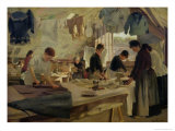 Ironing Workshop in Trouville, 1888 Giclee Print by Hendrik Anthonissen