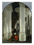 Interior View of the New Church in Delft Giclee Print by Emanuel de Witte