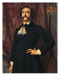 Portrait of Jules Barbey D'Aurevilly Giclee Print by Emile Levy