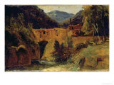 Mill in the Valley Near Amalfi, 1829 Giclee Print by Karl Blechen