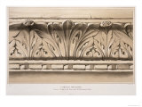 Cornice Moulding, Tomb, Church of S.S.Giovanni E Paolo, Engraved by G. Rosenthal, c.1851 Giclee Print by John Ruskin