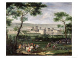 View of the Chateau de Vincennes, c.1665 Giclee Print by Adam Frans van der Meulen