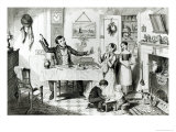 The Bottle, Plate I, the Husband Induces His Wife Just to Take a Drop, 1847 Giclee Print by George Cruikshank