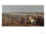 The Crossing of the Rhine, 12th June 1672 Giclee Print by Adam Frans van der Meulen
