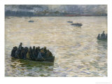 Shipyard Workers Returning Home on the Elbe, 1894 Giclee Print by Leopold Karl Walter von Kalckreuth