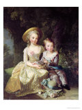 Child Portraits of Marie-Therese-Charlotte of France Giclée-Druck von Elisabeth Louise Vigee-LeBrun