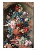 Flowers in a Terracotta Vase, 1736 Giclee Print by Jan van Huysum