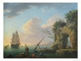 Seascape, 1748 Giclée-Druck von Carle Vernet