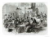 The Restaurant of Wet Feet, at the Marche Des Innocents in Paris Giclee Print by Godefroy Durand