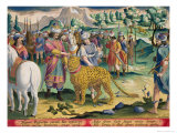Great King of the Parthians Hunts, Plate 9 Venationes Ferarum, Avium, Piscium Giclee Print by Jan van der Straet