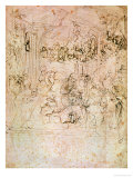 Composition Sketch For the Adoration of the Magi, 1481 Giclee Print by Leonardo da Vinci 