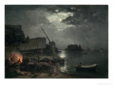 View of Naples in Moonlight, 1829 Giclee Print by Silvestr Fedosievich Shchedrin