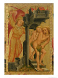 The Expulsion from the Garden of Paradise, Detail from the Grabow Altarpiece, 1379-83 Giclee Print by  Master Bertram of Minden