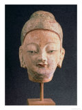 Head of a Statue of Buddha, from Bezeklik, 9Th-10th Century Giclee Print by Xingjiang