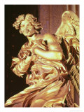 Angel from the Tabernacle in the Blessed Sacrament Chapel, 1674 Giclée-tryk af Giovanni Lorenzo Bernini
