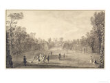 The Bowling Green at Claremont, 1738 Giclee Print by John Rocque