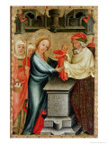 The Presentation of Christ in the Temple, Detail from the Grabow Altarpiece, 1379-83 Giclee Print by  Master Bertram of Minden