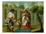 Arvarrasado and Barsino Indian Couple with Their Children, Series on Mixed Race Marriages, Mexico Giclee Print