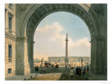 Palace Square, Arch of the Army Headquarters, St. Petersburg, Printed by Lemercier, Paris, c.1840 Giclee Print by Louis Jules Arnout