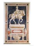 Equestrian Monument to Niccolo Da Tolentino Giclee Print by  Andrea del Castagno