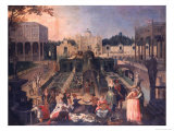 Feast in the Park of the Duke of Mantua, c.1595 Giclée-Druck von Sebastian Vrancx