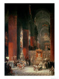 Procession in Seville Cathedral, 1833 Lámina giclée por David Roberts