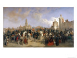 Entrance of the French Expeditionary Corps Into Mexico City, 10th June 1863, 1869 Giclee Print by Jean Adolphe Beauce