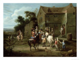 Prince William of Orange with Huntsmen Giclee Print by Gillis van Tilborgh